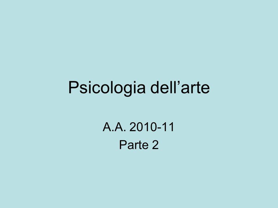 Psicologia dell'arte A.A. 2010-11 Parte 2