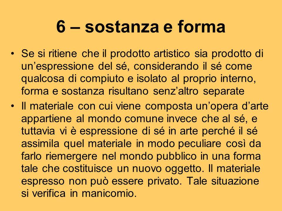 6 – sostanza e forma