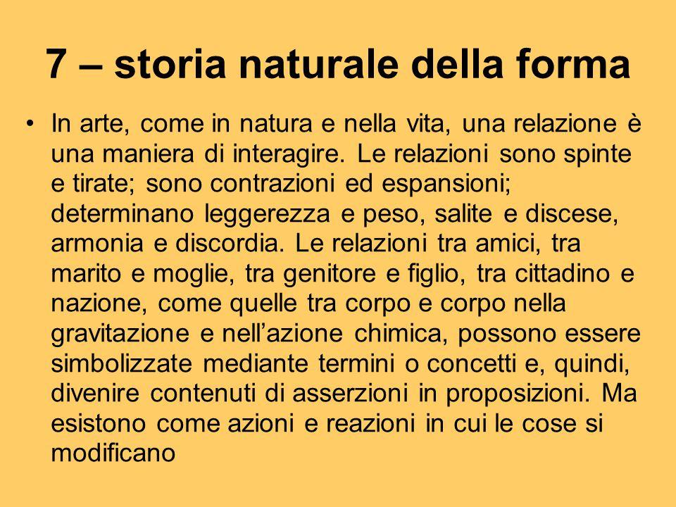 7 – storia naturale della forma