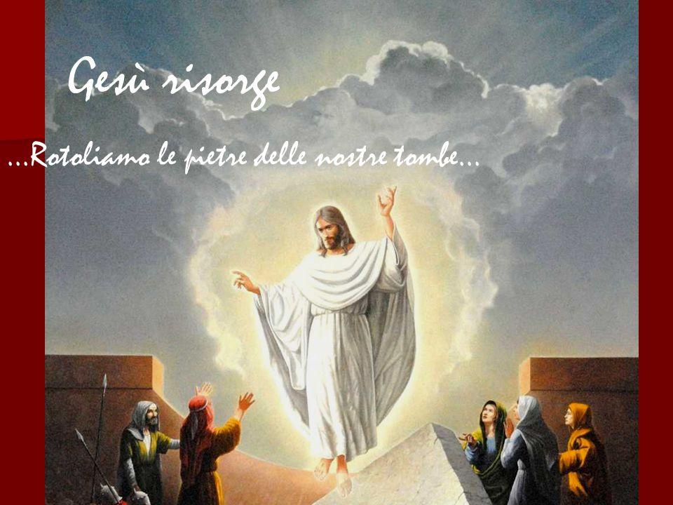 Gesù risorge ...Rotoliamo le pietre delle nostre tombe...