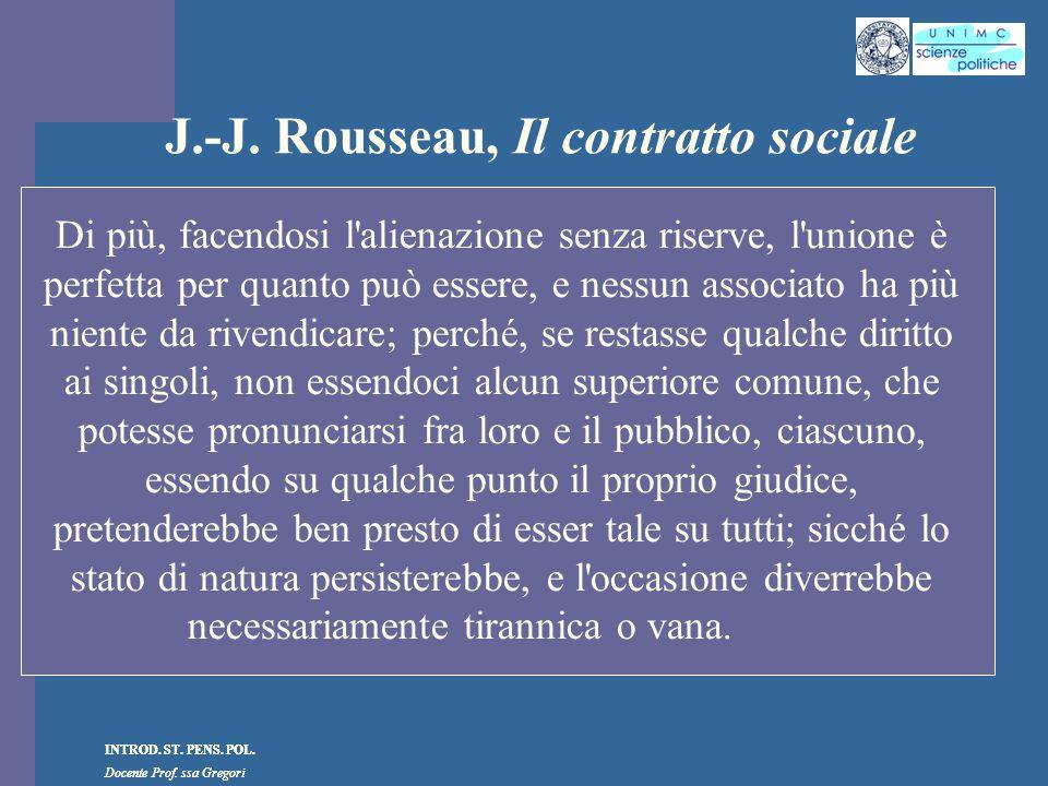 J.-J. Rousseau, Il contratto sociale