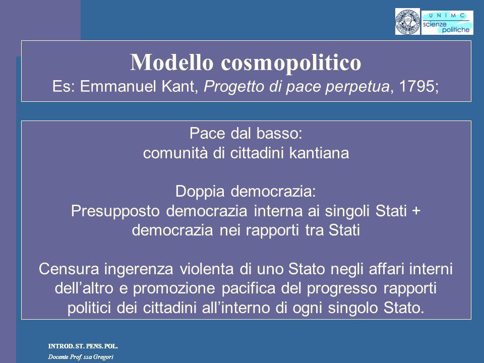 Modello cosmopolitico