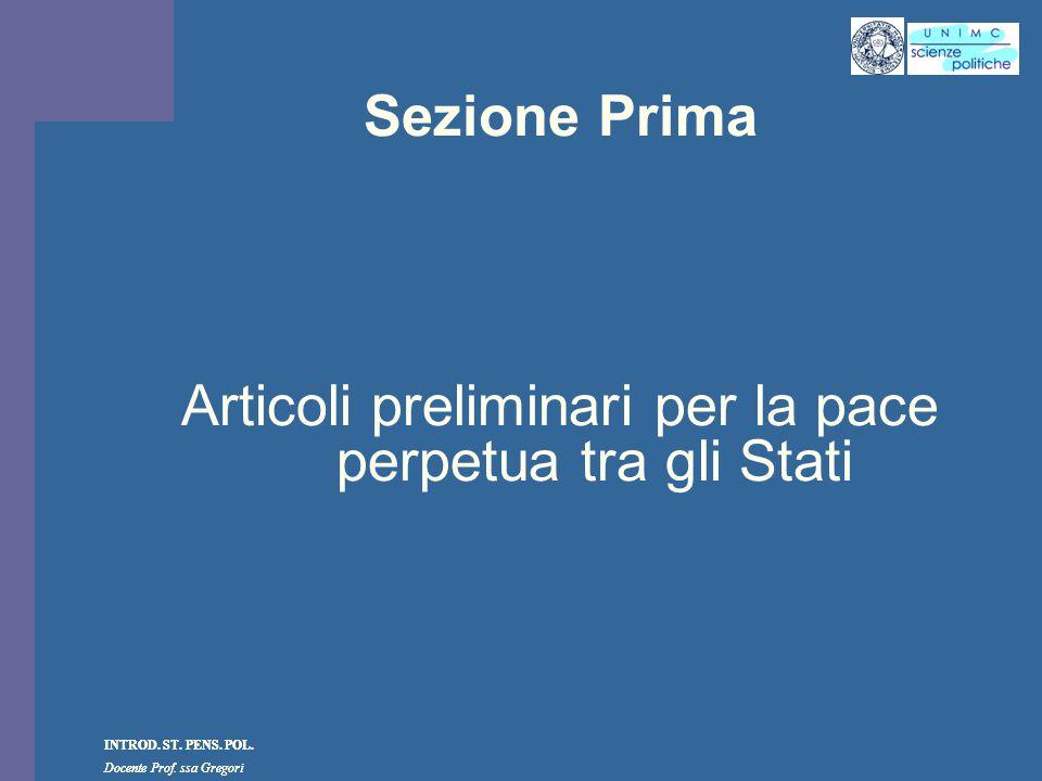 Articoli preliminari per la pace perpetua tra gli Stati