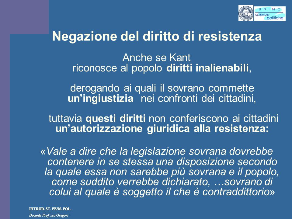 Negazione del diritto di resistenza