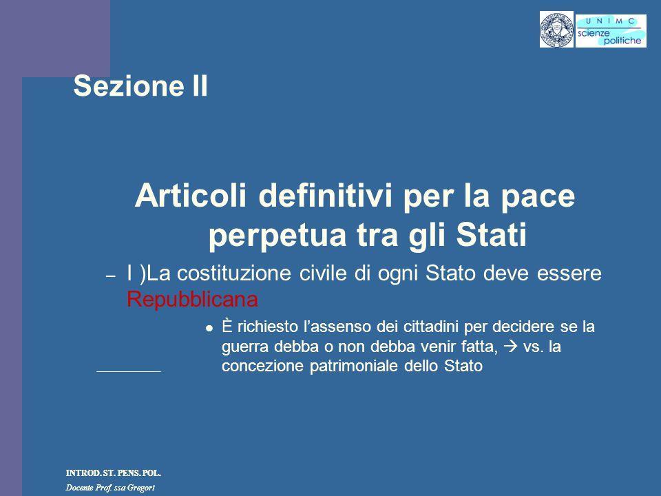 Articoli definitivi per la pace perpetua tra gli Stati