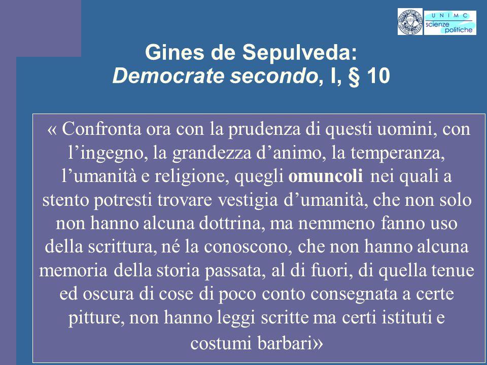 Gines de Sepulveda: Democrate secondo, I, § 10
