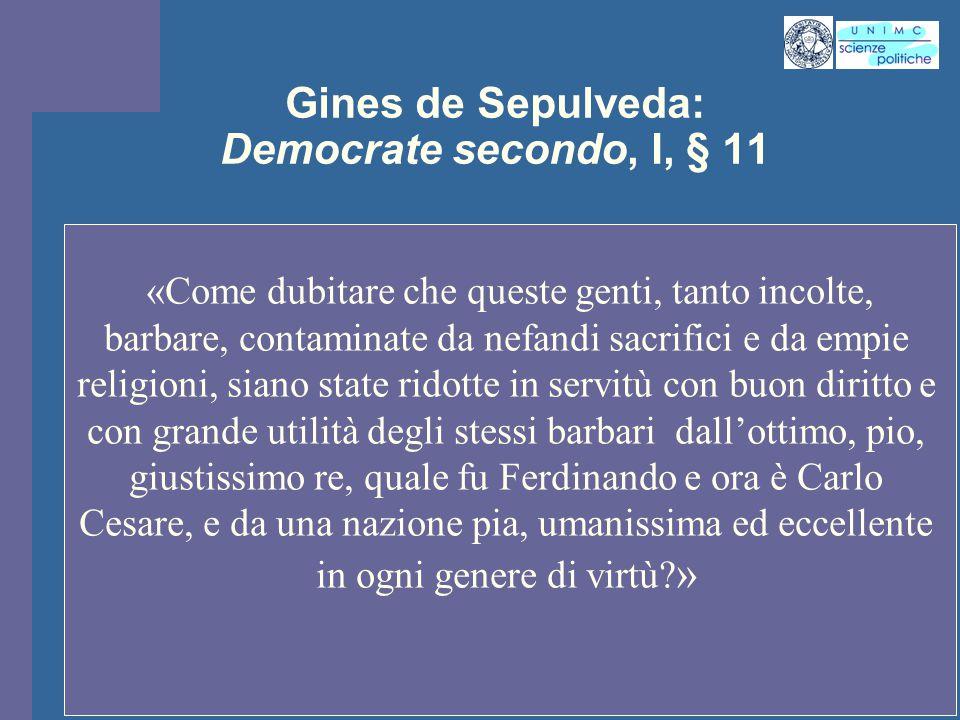 Gines de Sepulveda: Democrate secondo, I, § 11