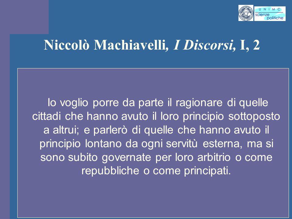 Niccolò Machiavelli, I Discorsi, I, 2