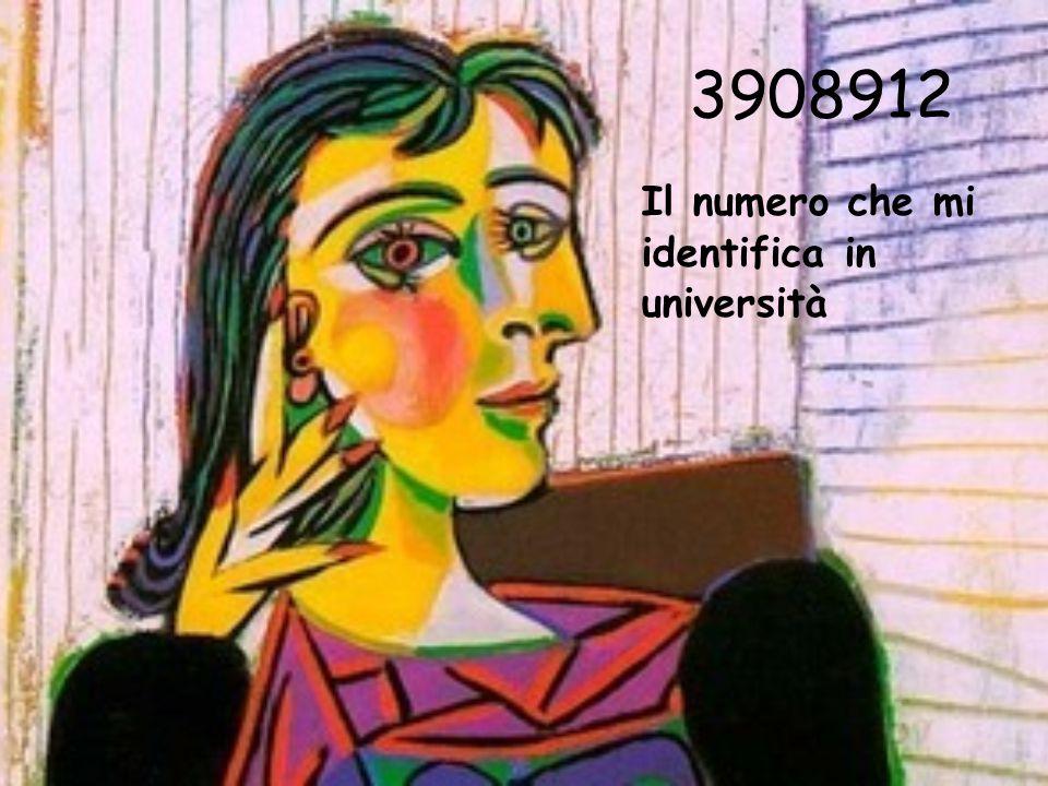 3908912 Il numero che mi identifica in università