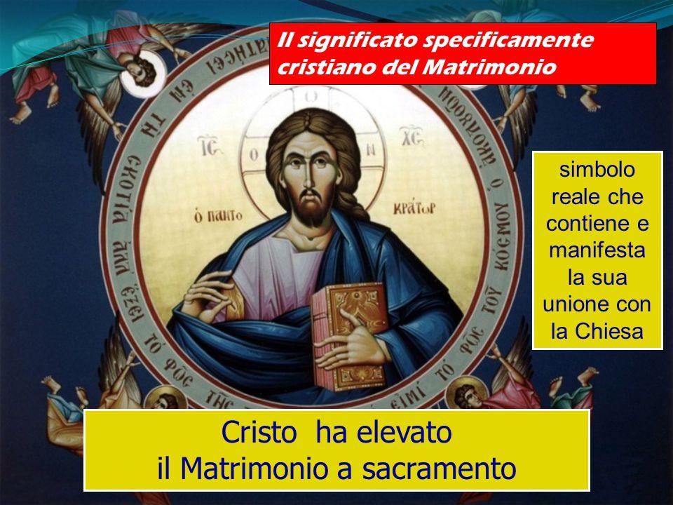 Cristo ha elevato il Matrimonio a sacramento