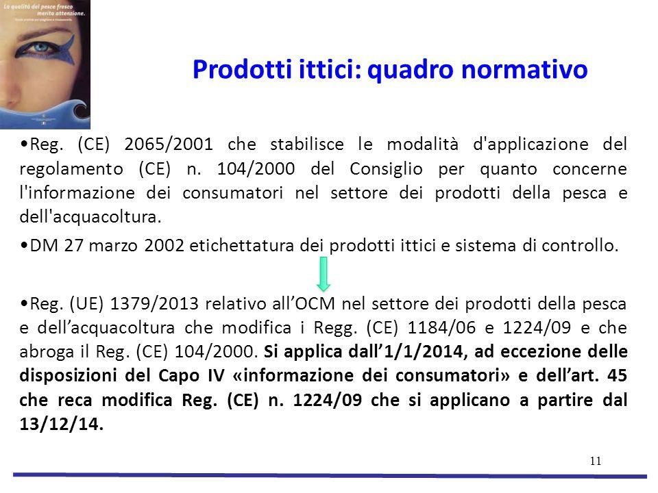 Prodotti ittici: quadro normativo