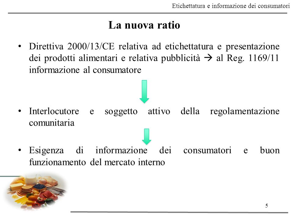 Etichettatura e informazione dei consumatori