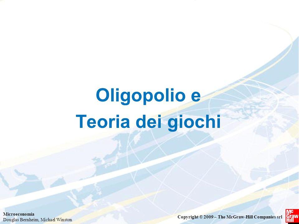 Oligopolio e Teoria dei giochi