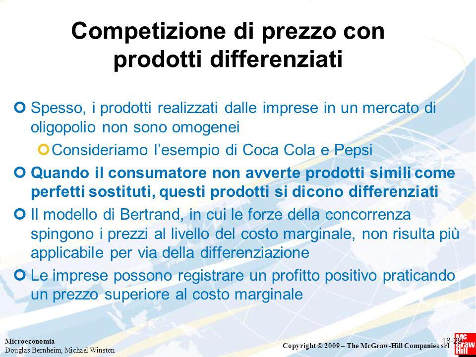 Competizione di prezzo con prodotti differenziati