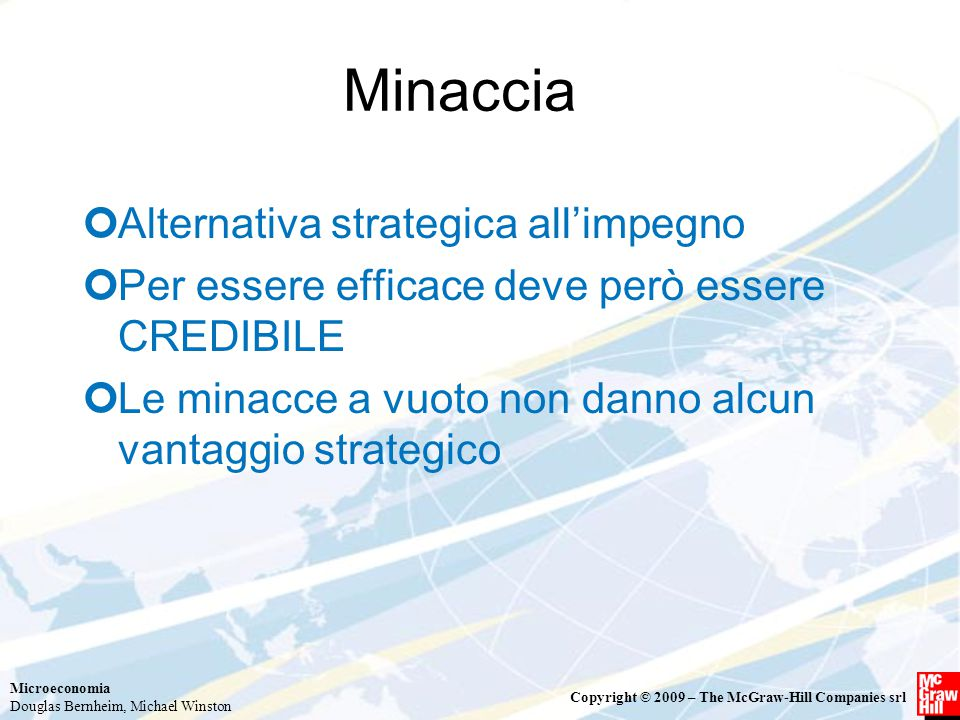 Minaccia Alternativa strategica all'impegno