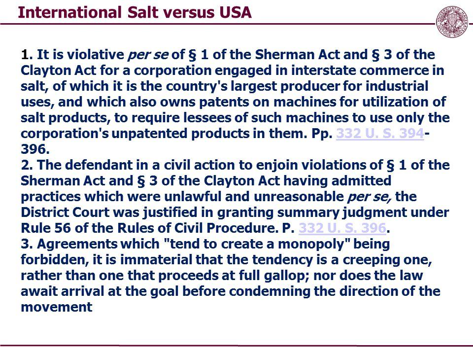 International Salt versus USA