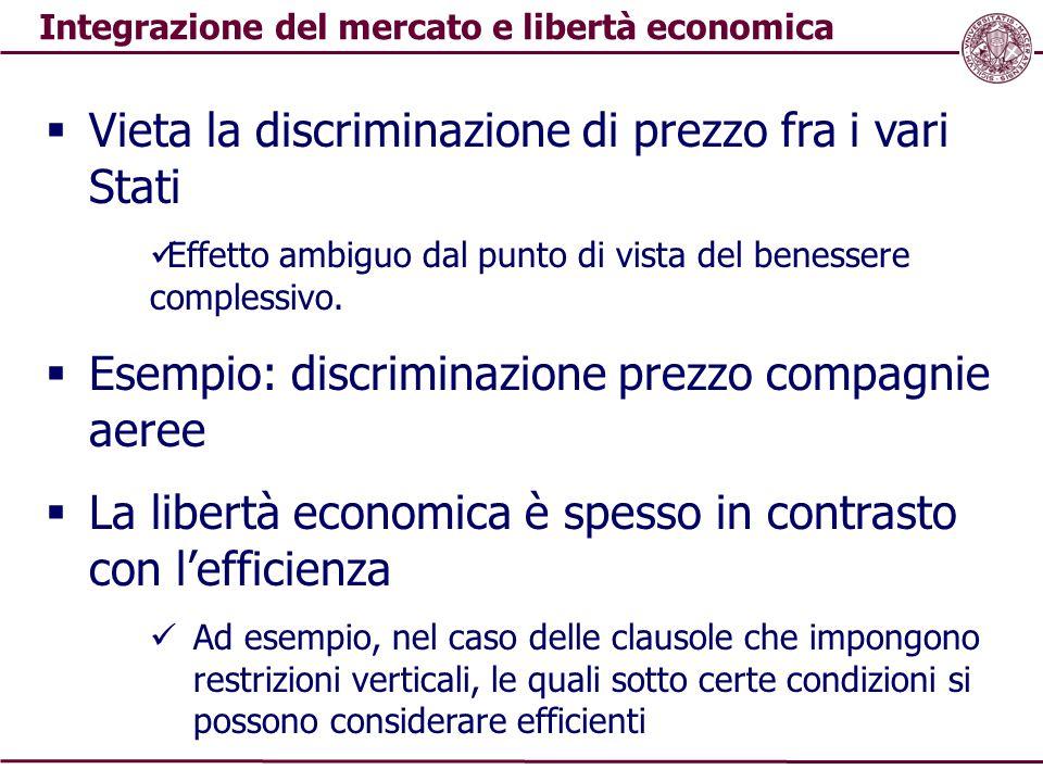 Integrazione del mercato e libertà economica
