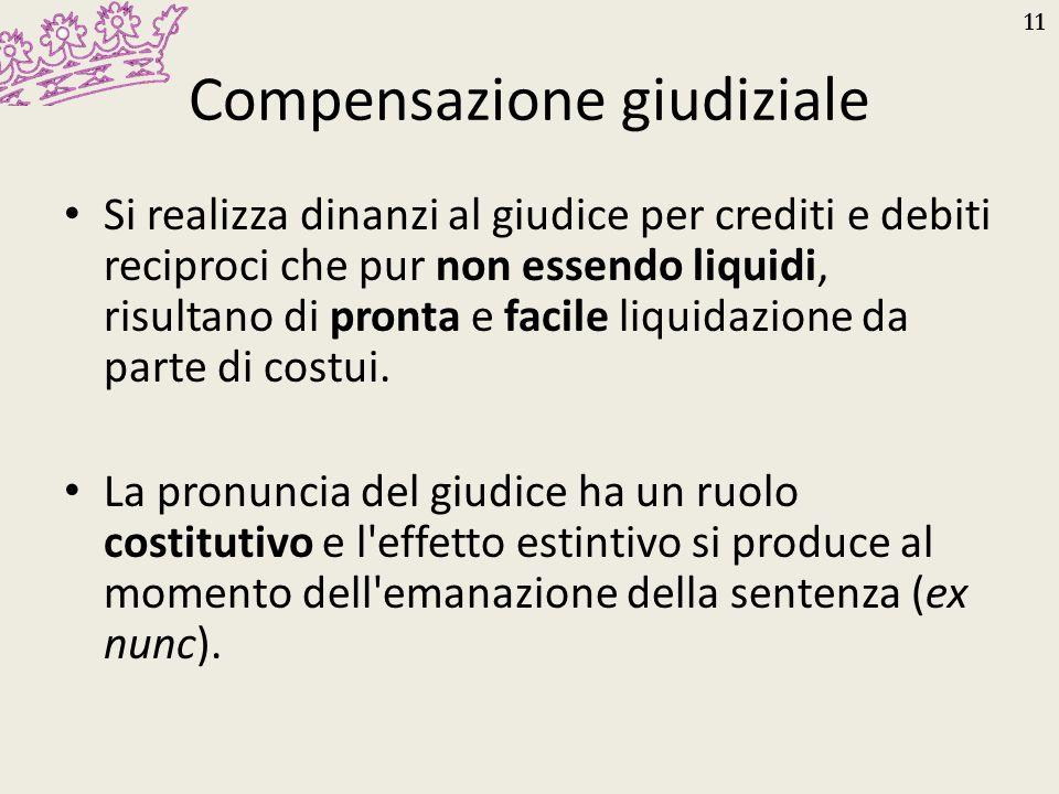 Compensazione giudiziale