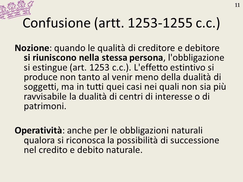 Confusione (artt. 1253-1255 c.c.)