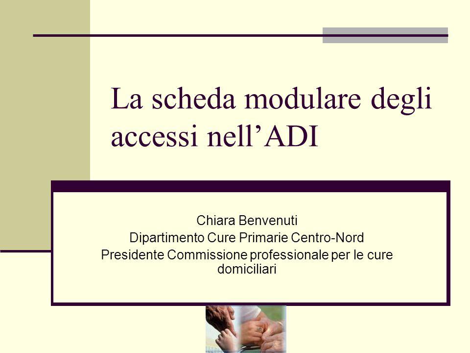 La scheda modulare degli accessi nell'ADI