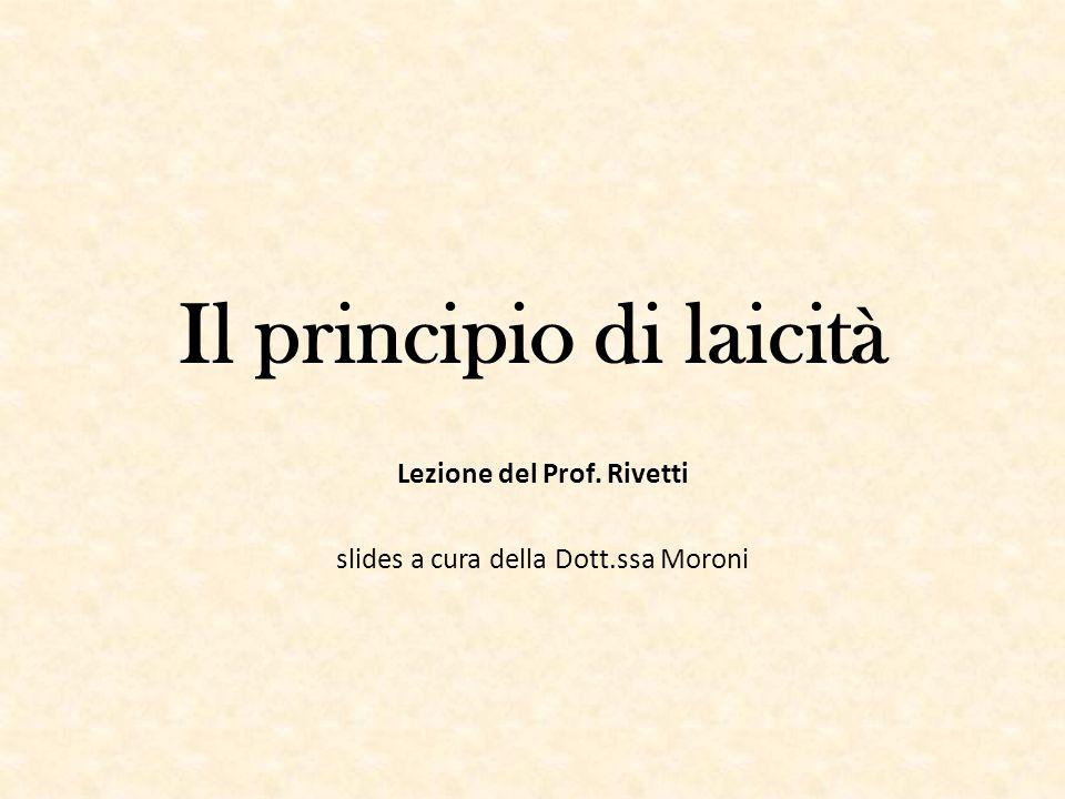 Il principio di laicità