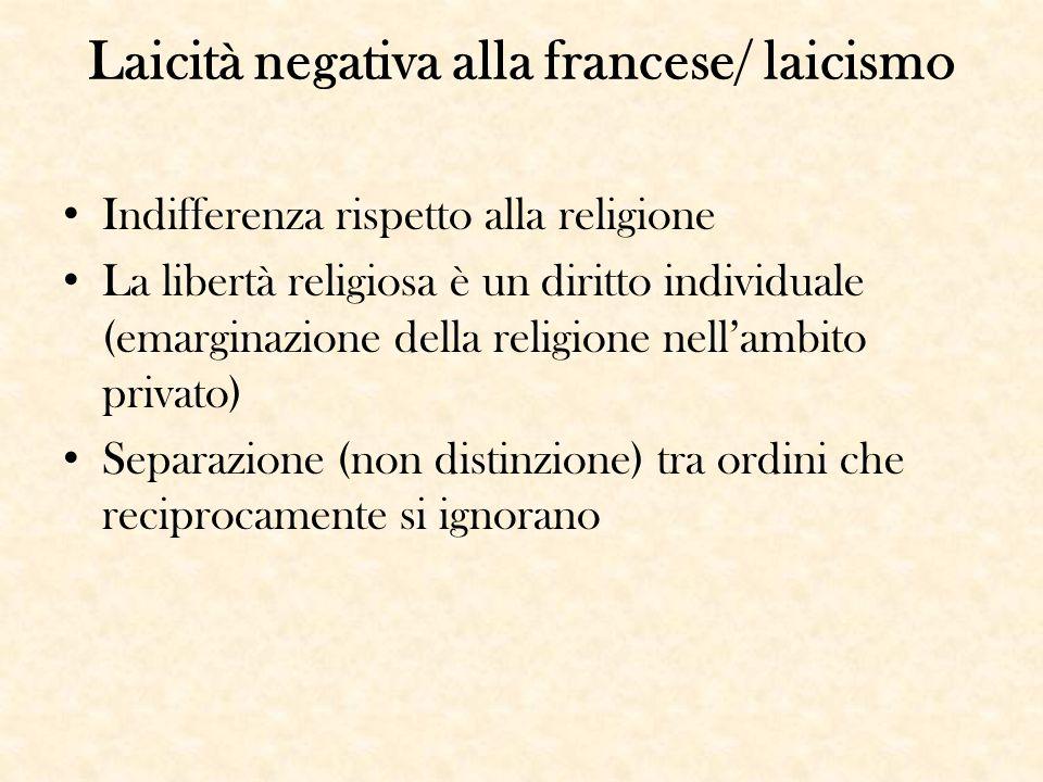 Laicità negativa alla francese/ laicismo