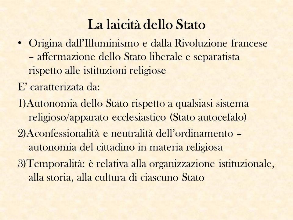 La laicità dello Stato