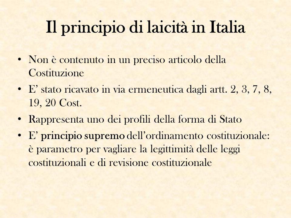 Il principio di laicità in Italia