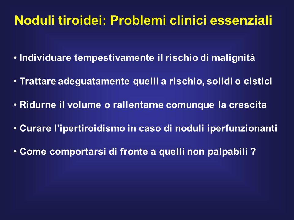 Noduli tiroidei: Problemi clinici essenziali