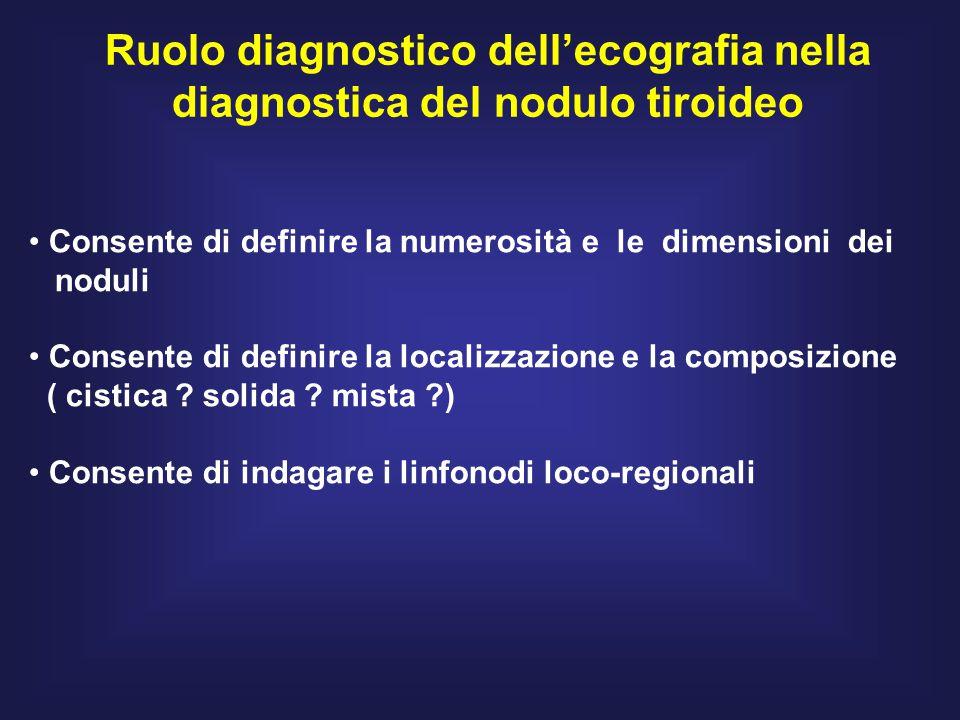 Ruolo diagnostico dell'ecografia nella diagnostica del nodulo tiroideo