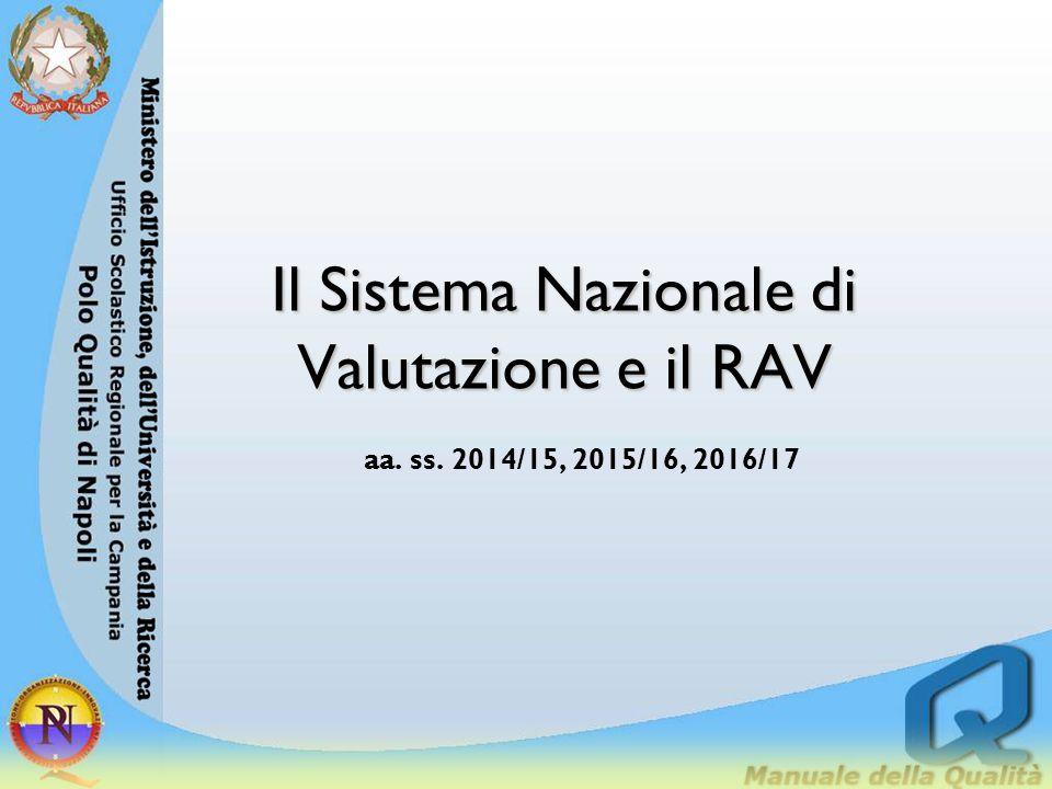 Il Sistema Nazionale di Valutazione e il RAV