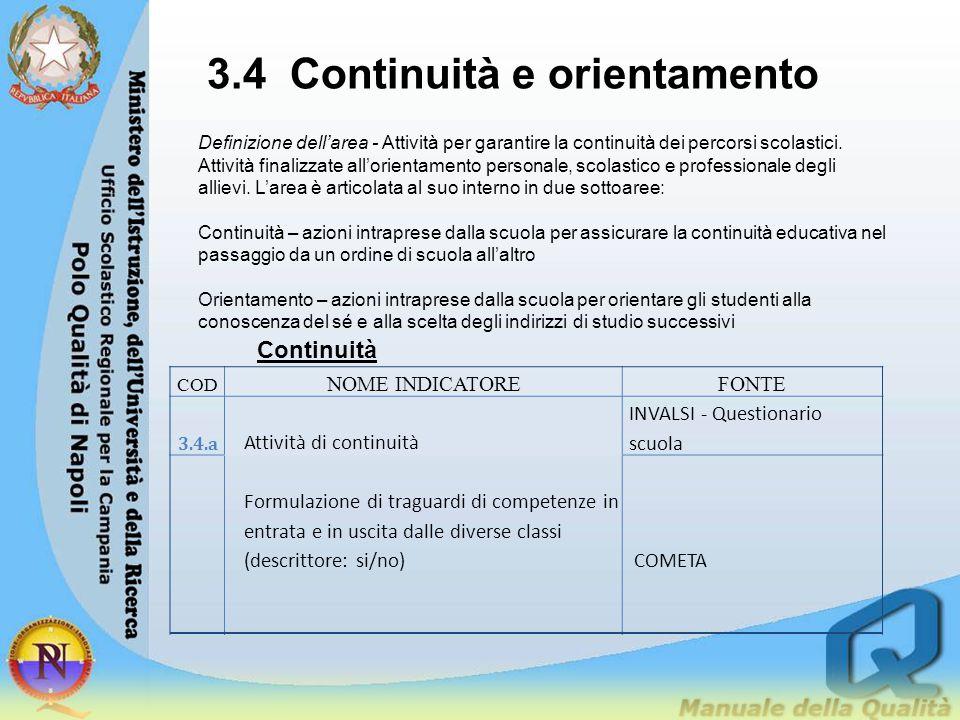 3.4 Continuità e orientamento