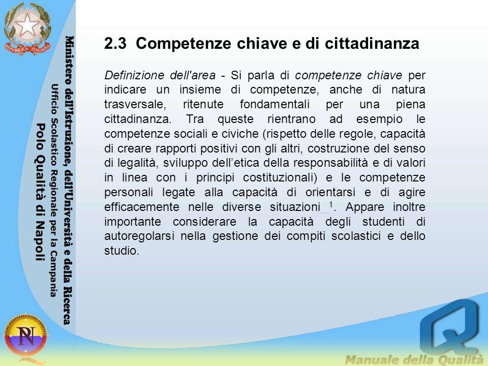 2.3 Competenze chiave e di cittadinanza