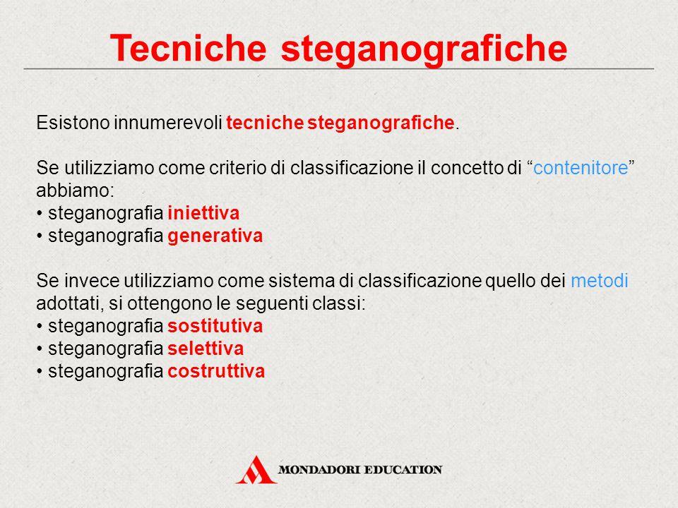 Tecniche steganografiche