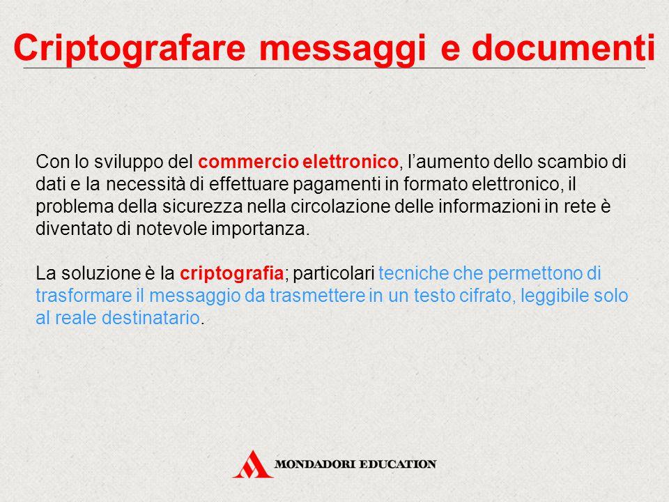 Criptografare messaggi e documenti