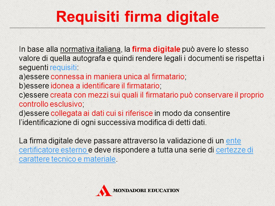 Requisiti firma digitale