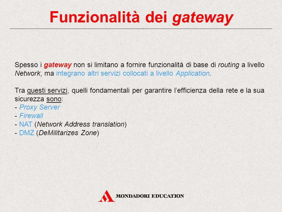 Funzionalità dei gateway