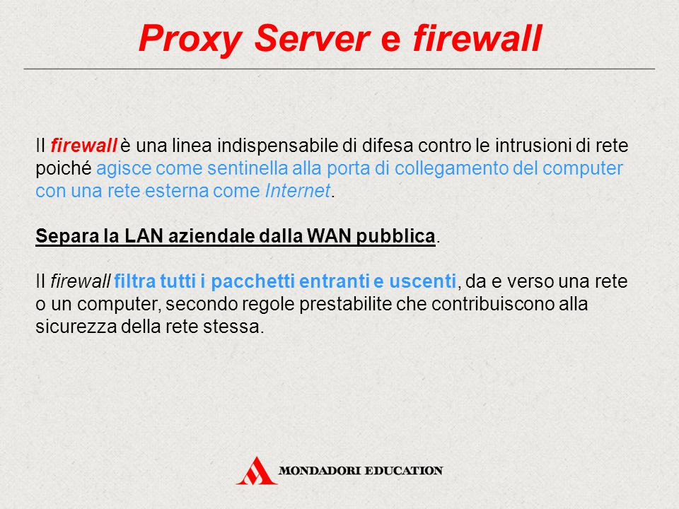 Proxy Server e firewall
