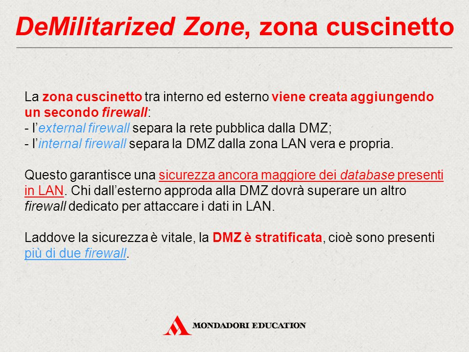 DeMilitarized Zone, zona cuscinetto