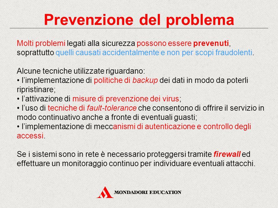 Prevenzione del problema