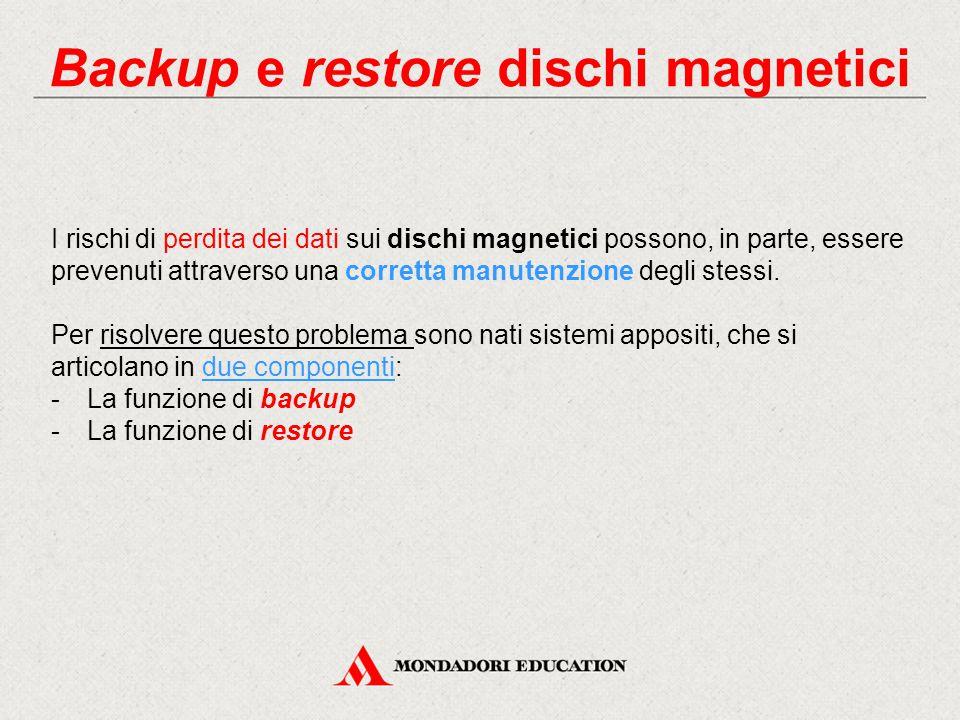 Backup e restore dischi magnetici