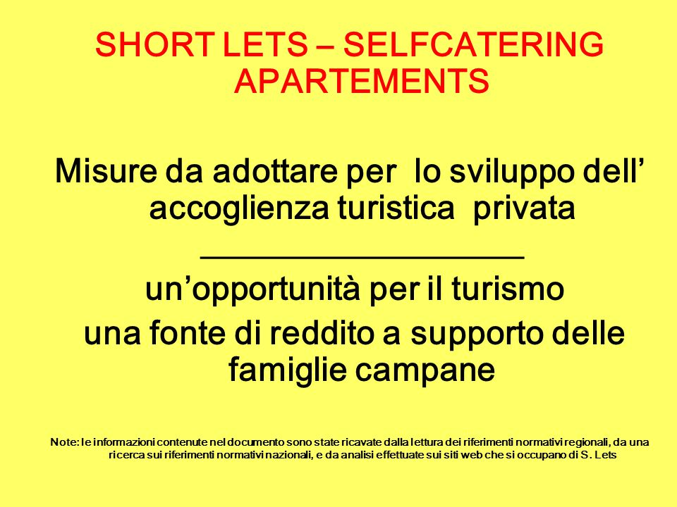 SHORT LETS – SELFCATERING APARTEMENTS
