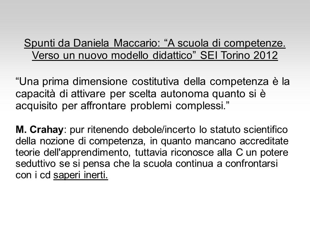Spunti da Daniela Maccario: A scuola di competenze