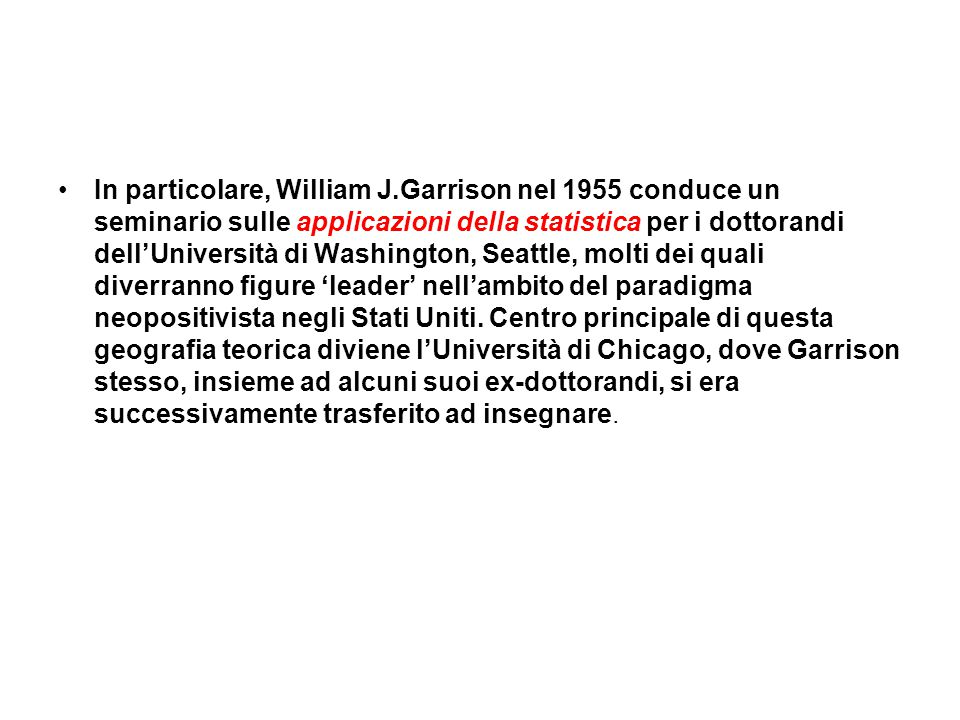 In particolare, William J
