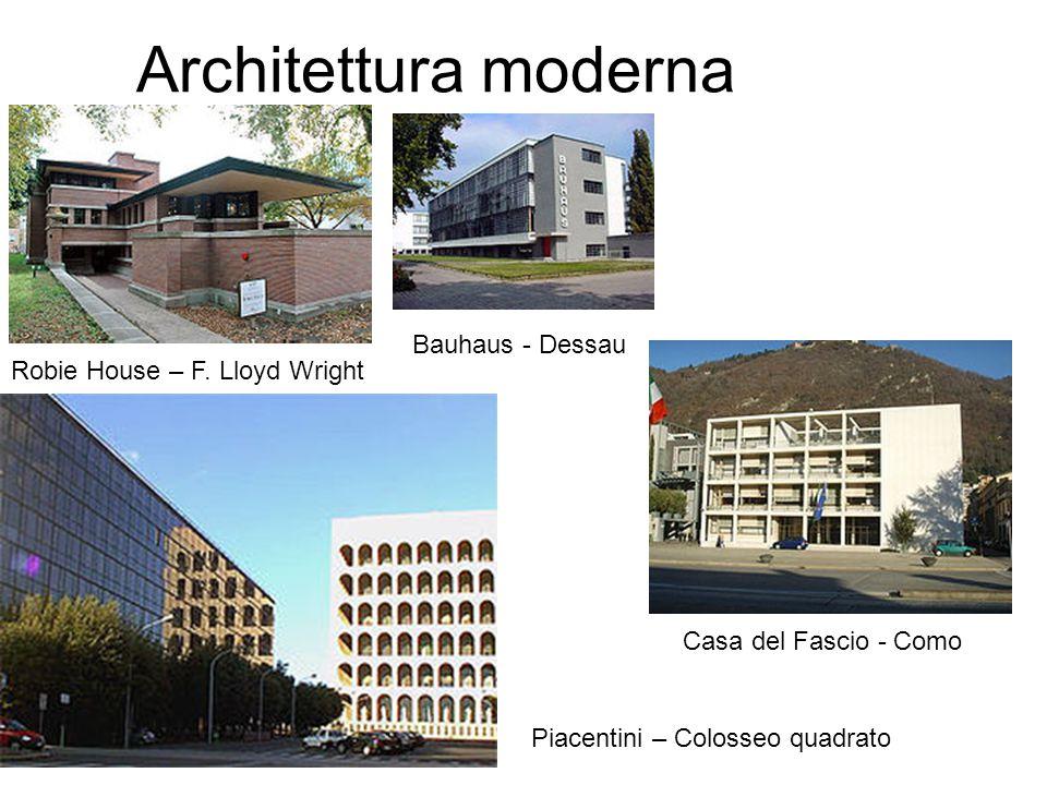 Architettura moderna Bauhaus - Dessau Robie House – F. Lloyd Wright