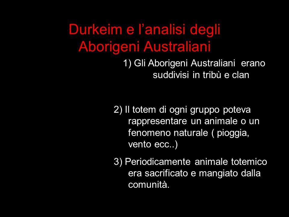 Durkeim e l'analisi degli Aborigeni Australiani