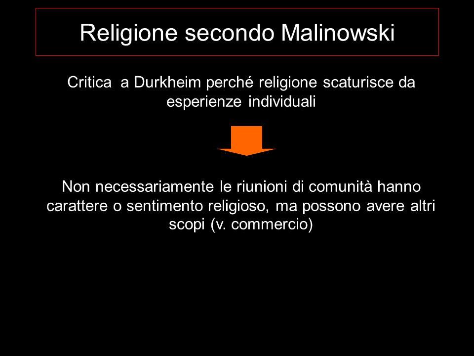 Religione secondo Malinowski