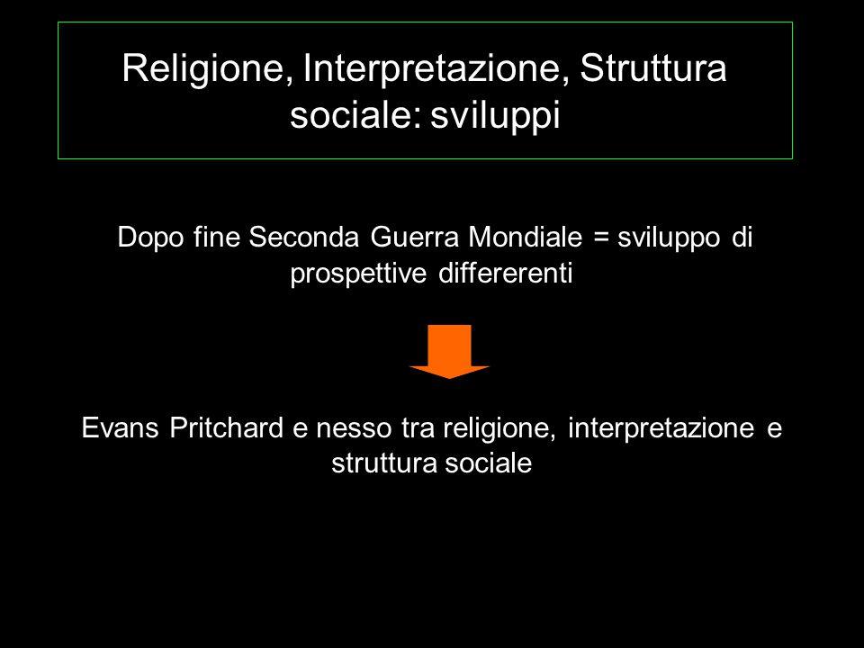Religione, Interpretazione, Struttura sociale: sviluppi