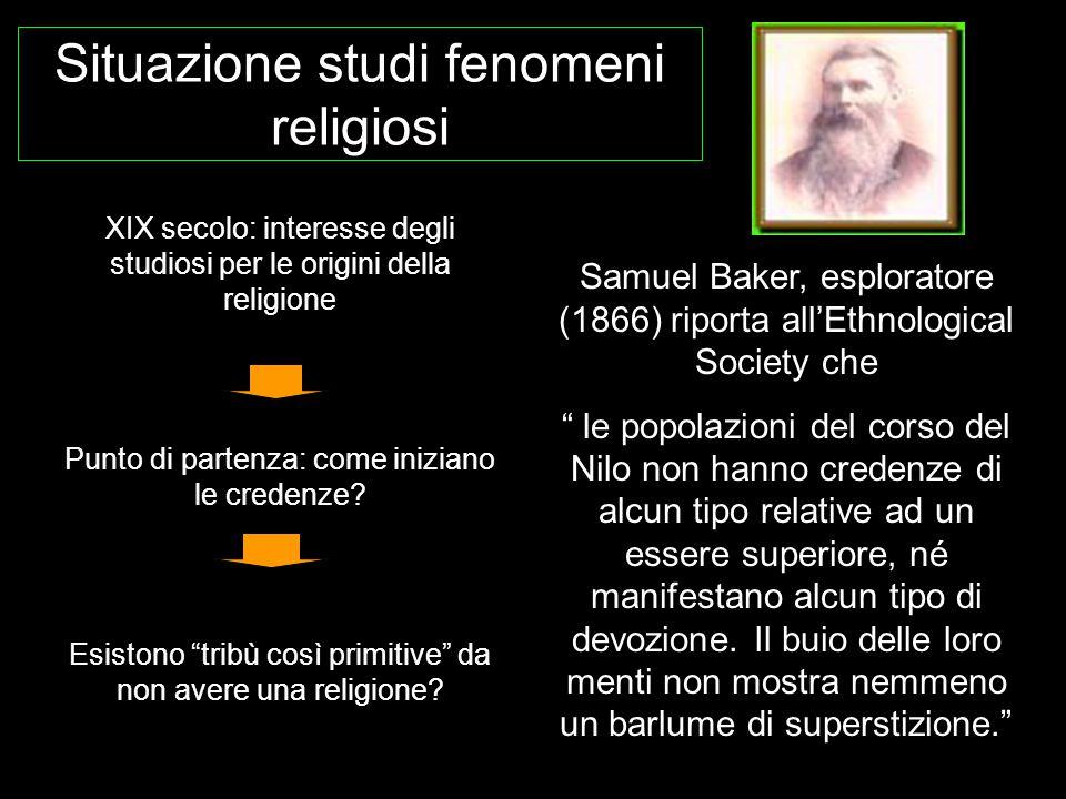 Situazione studi fenomeni religiosi