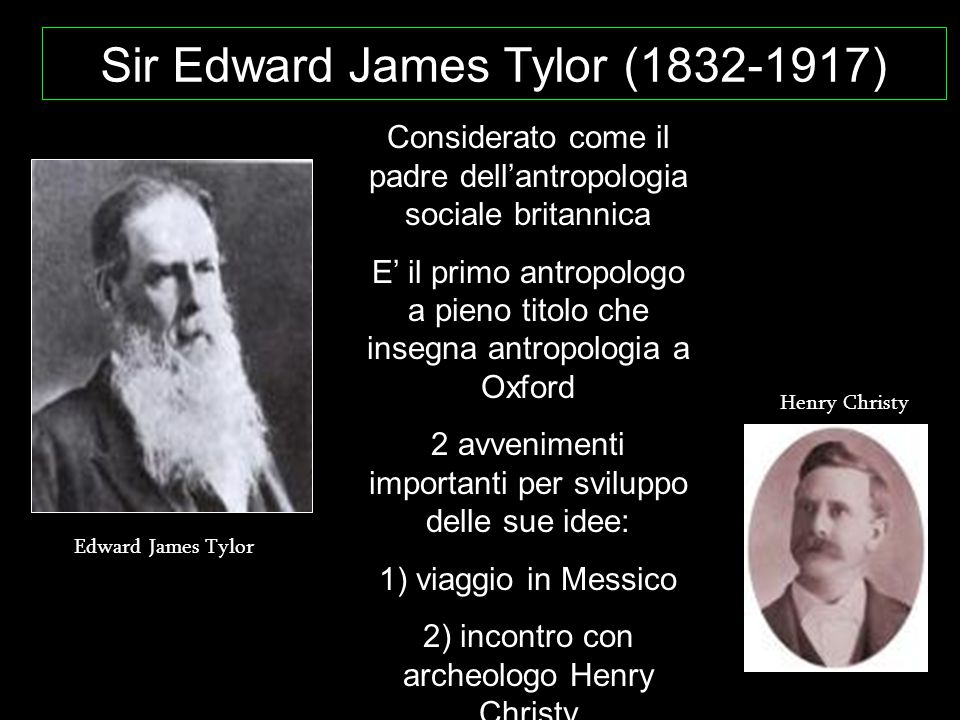 Sir Edward James Tylor (1832-1917)